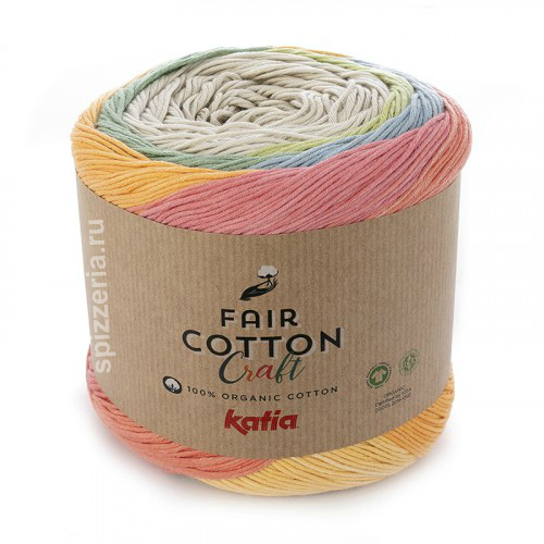 Пряжа Fair Cotton Craft 100% хлопок