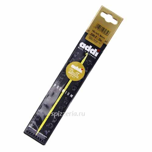 Крючок вязальный алюминиевый AddiDuett, №3.5, 15см