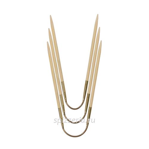 Чулочные гибкие спицы из бамбука №4.5, 24 см, 3 шт