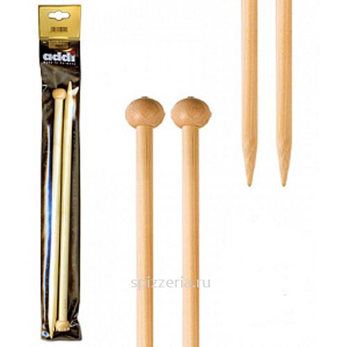 Спицы прямые, бамбук, №9, 25 см