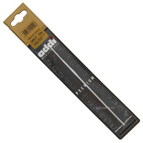 Вязальный алюминиевый крючок Адди, №4, 15 см
