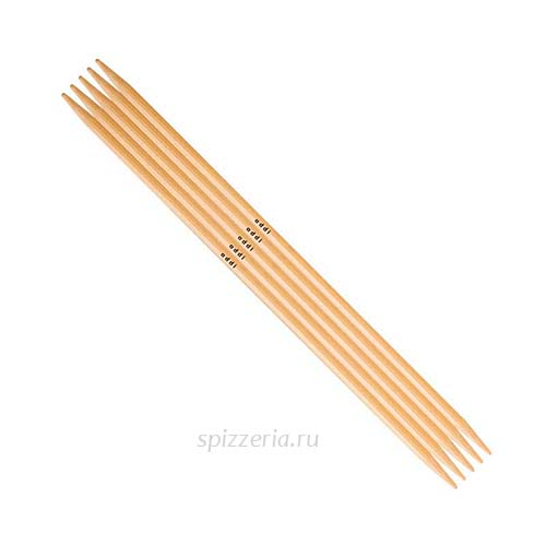 Спицы для вязания Адди чулочные из бамбука №4.5, 15 см