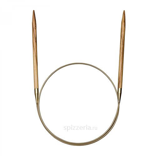 Спицы круговые из оливкового дерева №8, 80 см